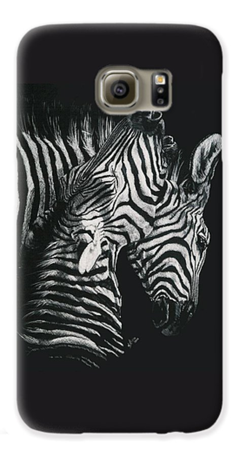Art Galaxy S6 Case featuring the drawing Youngbloods by Barbara Keith
