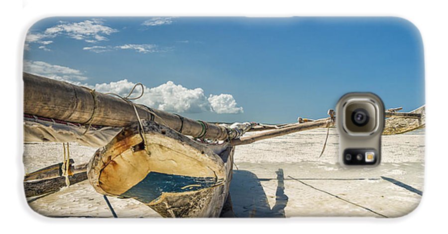 3scape Photos Galaxy S6 Case featuring the photograph Zanzibar Outrigger by Adam Romanowicz