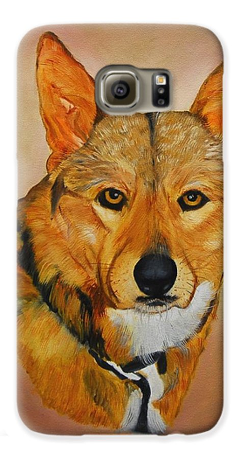 Animals Galaxy S6 Case featuring the painting Zavious by Quwatha Valentine