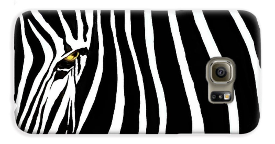 Zebra Galaxy S6 Case featuring the photograph Zebressence by Dan Holm
