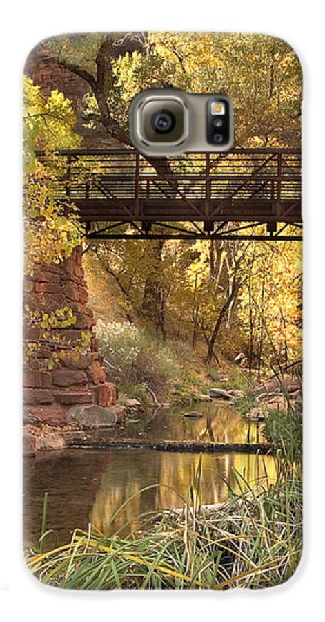 3scape Photos Galaxy S6 Case featuring the photograph Zion Bridge by Adam Romanowicz