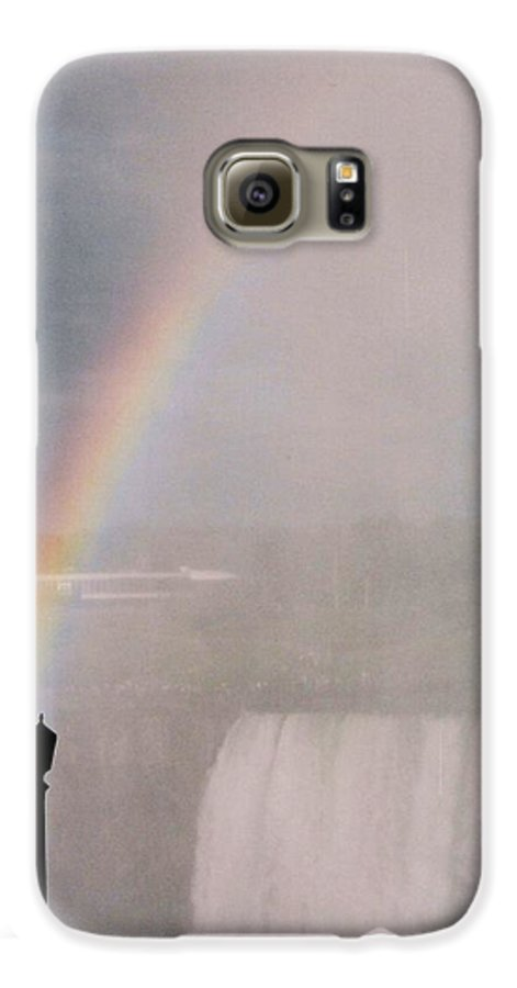 Waterfall Galaxy S6 Case featuring the photograph Rainbow Falls by Pharris Art
