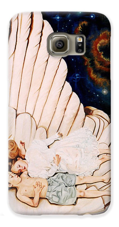 Be Still And Know That I Am God Galaxy S6 Case featuring the painting Be Still by Teresa Carter