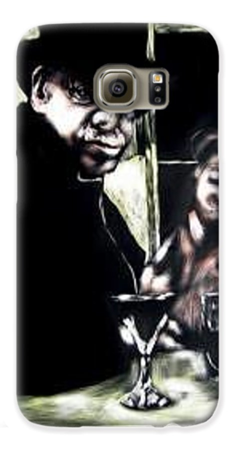 Commentary Galaxy S6 Case featuring the mixed media My Old New Orleans by Chester Elmore