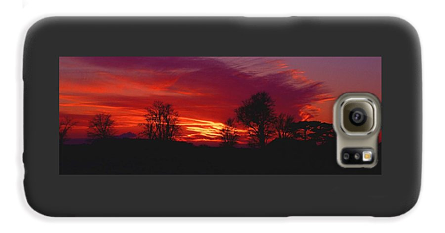 Sunset Galaxy S6 Case featuring the photograph 022107-37 by Mike Davis