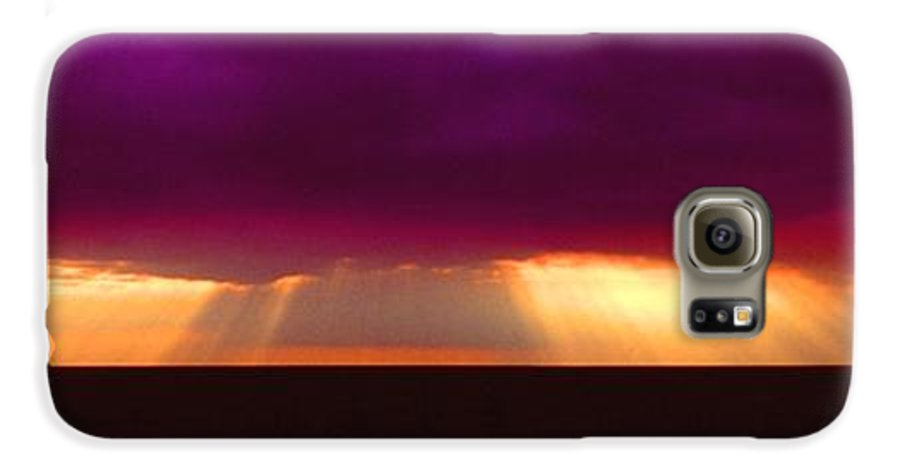 Sunset Galaxy S6 Case featuring the photograph 092908-4 by Mike Davis