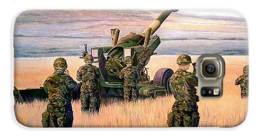 Signed And Numbered Prints Of The Montana National Guard Galaxy S6 Case featuring the print 1-190th Artillery by Scott Robertson