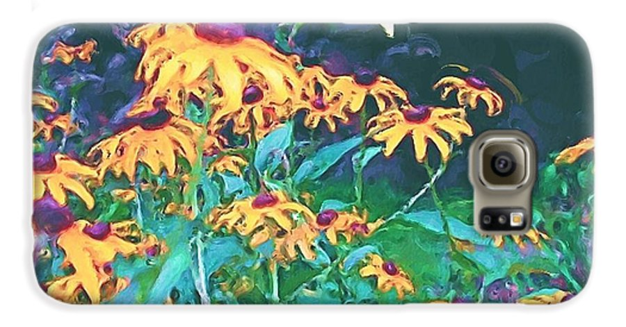 Mixed Media Galaxy S6 Case featuring the painting A Lily In The Field by Patricia Griffin Brett