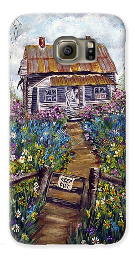 House Galaxy S6 Case featuring the painting Abandoned House by Quwatha Valentine