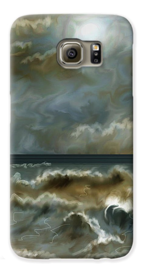 Seascape Galaxy S6 Case featuring the painting After The Squall by Anne Norskog