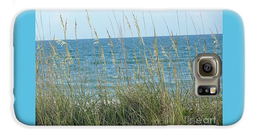 Beach Galaxy S6 Case featuring the photograph Afternoon At The Beach by Barb Montanye Meseroll