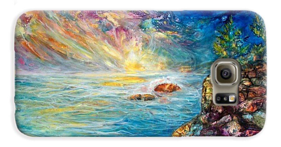 Seascape Galaxy S6 Case featuring the painting Ascension by Mary Sonya Conti