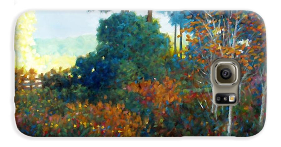 Landscape Galaxy S6 Case featuring the painting Back Gate by Kevin Lawrence Leveque