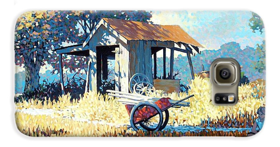 Cart Galaxy S6 Case featuring the painting Breaktime by Kevin Lawrence Leveque