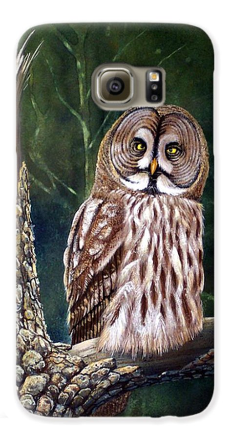 Wildlife Galaxy S6 Case featuring the painting Deep In The Woods by Frank Wilson