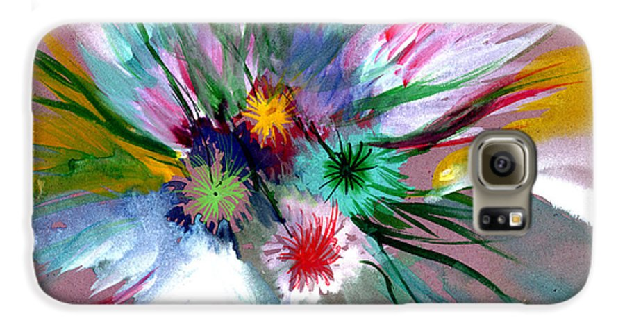 Flowers Galaxy S6 Case featuring the painting Flowers by Anil Nene