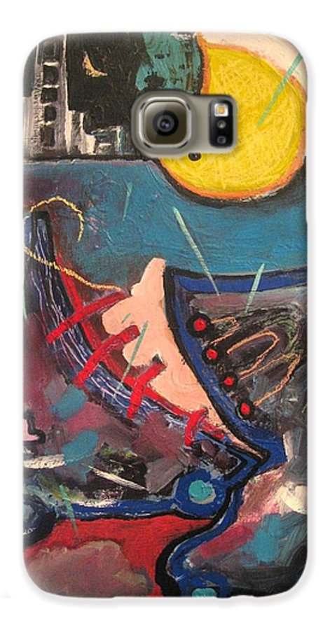 Abstract Paintings Galaxy S6 Case featuring the painting Forgotten Days by Seon-Jeong Kim