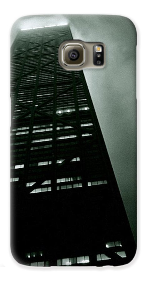 Geometric Galaxy S6 Case featuring the photograph John Hancock Building - Chicago Illinois by Michelle Calkins