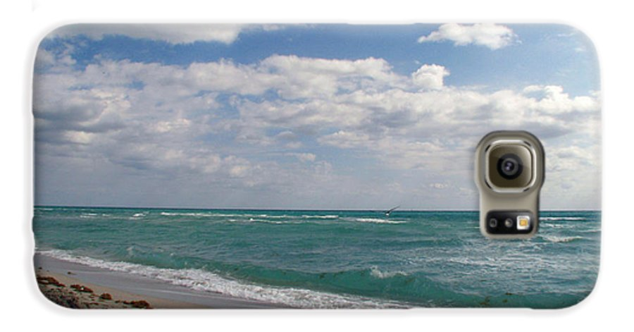 Miami Beach Galaxy S6 Case featuring the photograph Miami Beach by Amanda Barcon
