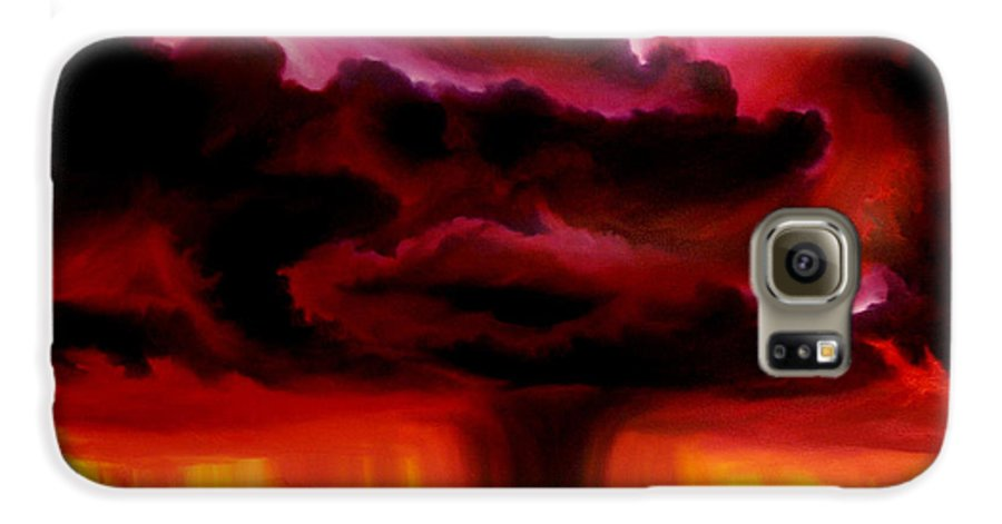 Skyscape Galaxy S6 Case featuring the painting Microburst by James Christopher Hill