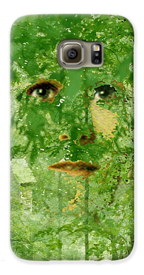 Lady Galaxy S6 Case featuring the digital art Mother Nature by Seth Weaver