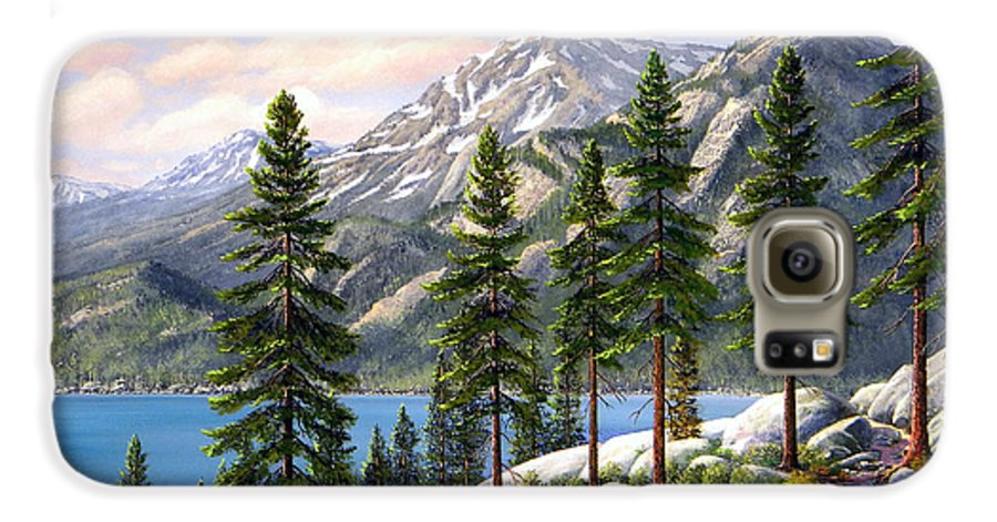 Landscape Galaxy S6 Case featuring the painting Mountain Trail by Frank Wilson