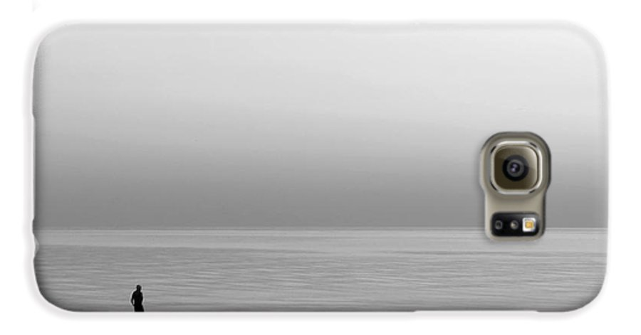 Lake Galaxy S6 Case featuring the photograph One Man by Dana DiPasquale