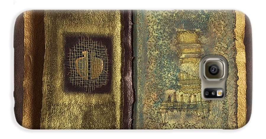 Artist-book Galaxy S6 Case featuring the mixed media Page Format No 1 Transitional Series by Kerryn Madsen-Pietsch