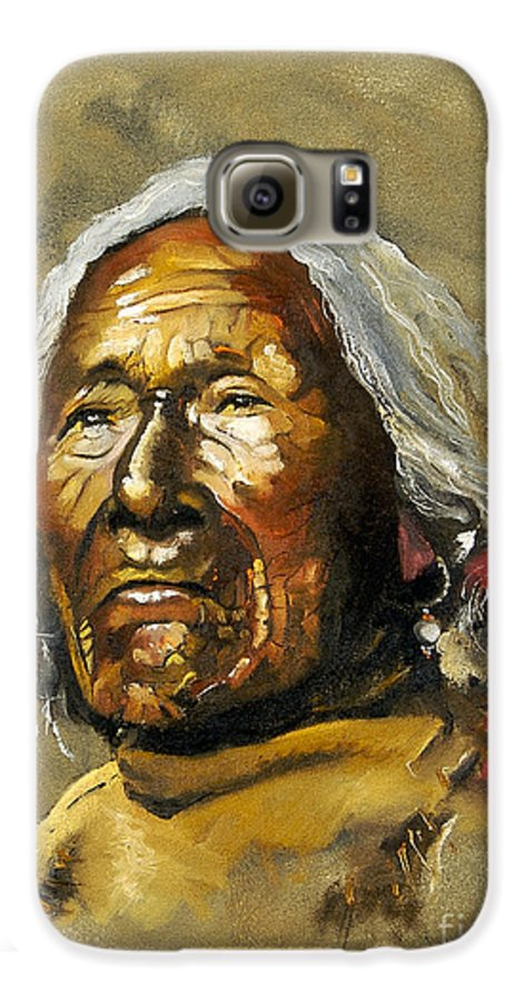 Southwest Art Galaxy S6 Case featuring the painting Painted Sands Of Time by J W Baker