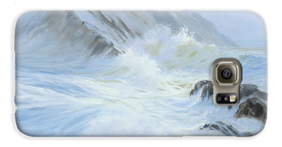 Seascape Galaxy S6 Case featuring the painting Quiet Moment II by Glenn Secrest