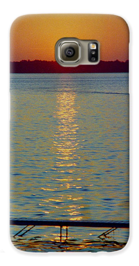 Sunset Galaxy S6 Case featuring the photograph Quite Pier Sunset by Randy Oberg