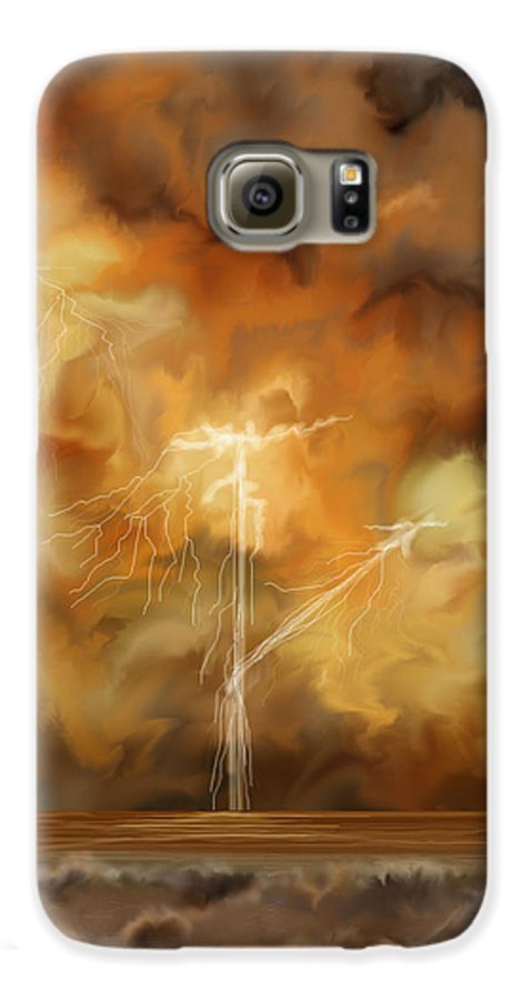 Anne Norskog Galaxy S6 Case featuring the painting Raw Power by Anne Norskog