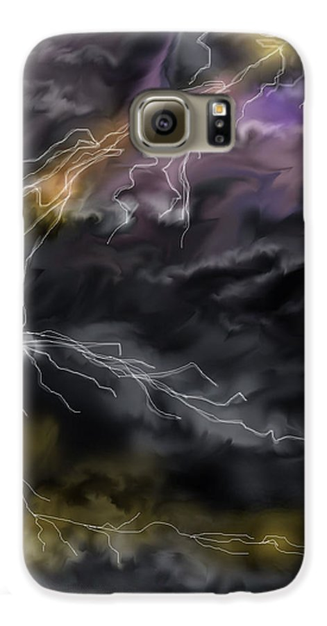 Seascape Galaxy S6 Case featuring the painting Shock And Awe by Anne Norskog