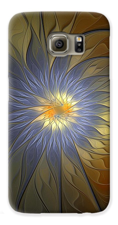 Digital Art Galaxy S6 Case featuring the digital art Something Blue by Amanda Moore