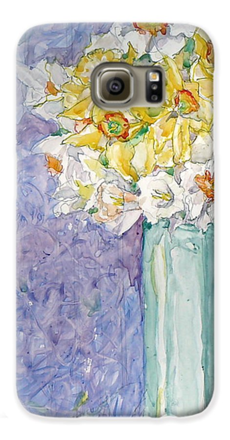 Watercolor Galaxy S6 Case featuring the painting Spring Blossoms by Jan Bennicoff