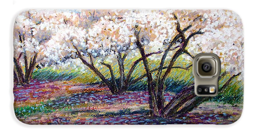 Oil Pastel Galaxy S6 Case featuring the painting Spring Has Sprung by Art Nomad Sandra Hansen