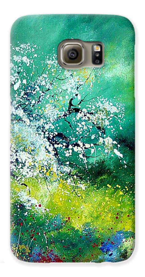 Flowers Galaxy S6 Case featuring the painting Spring by Pol Ledent