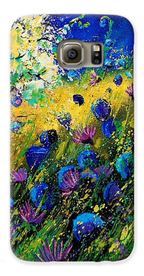 Poppies Galaxy S6 Case featuring the painting Summer 450208 by Pol Ledent