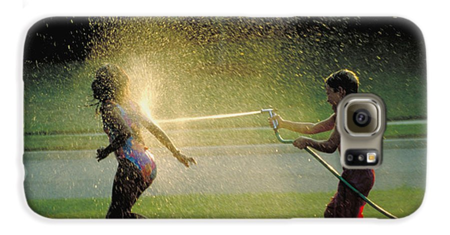 Hose Galaxy S6 Case featuring the photograph Summer Fun by Carl Purcell