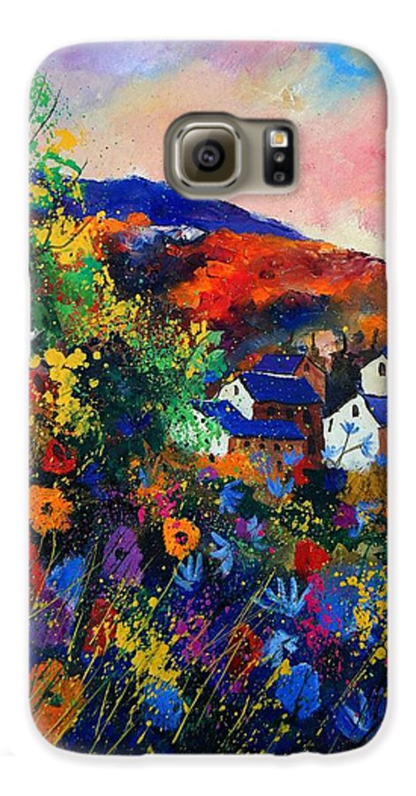Landscape Galaxy S6 Case featuring the painting Summer by Pol Ledent
