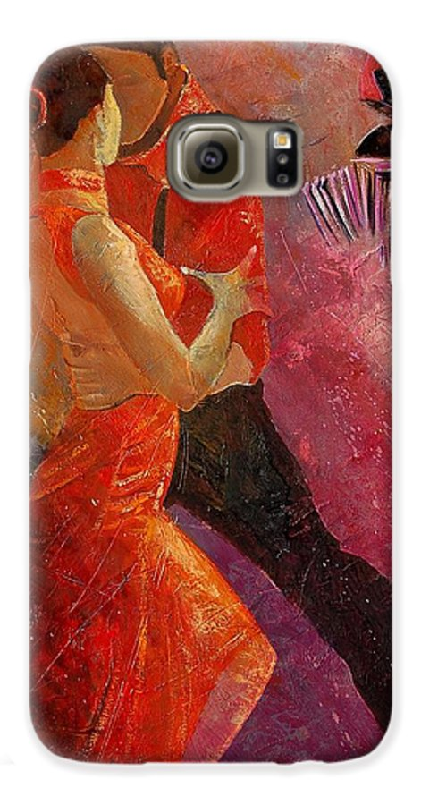 Tango Galaxy S6 Case featuring the painting Tango by Pol Ledent