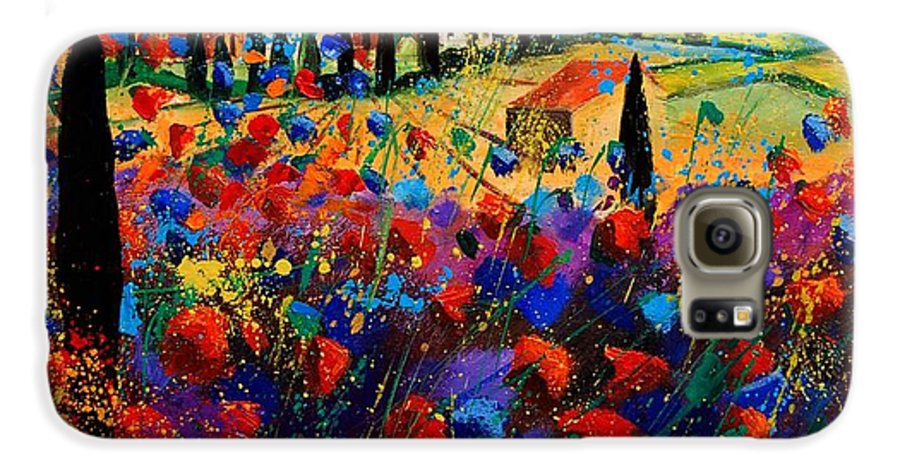 Flowers Galaxy S6 Case featuring the painting Tuscany Poppies by Pol Ledent