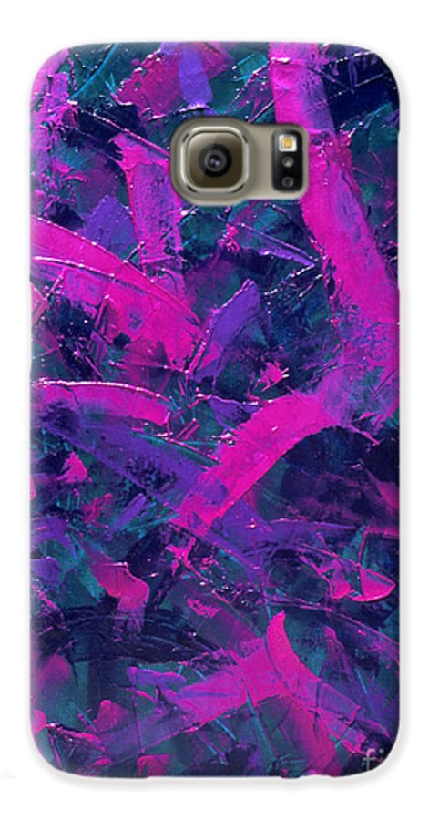 Abstract Galaxy S6 Case featuring the painting Untitled by Dean Triolo