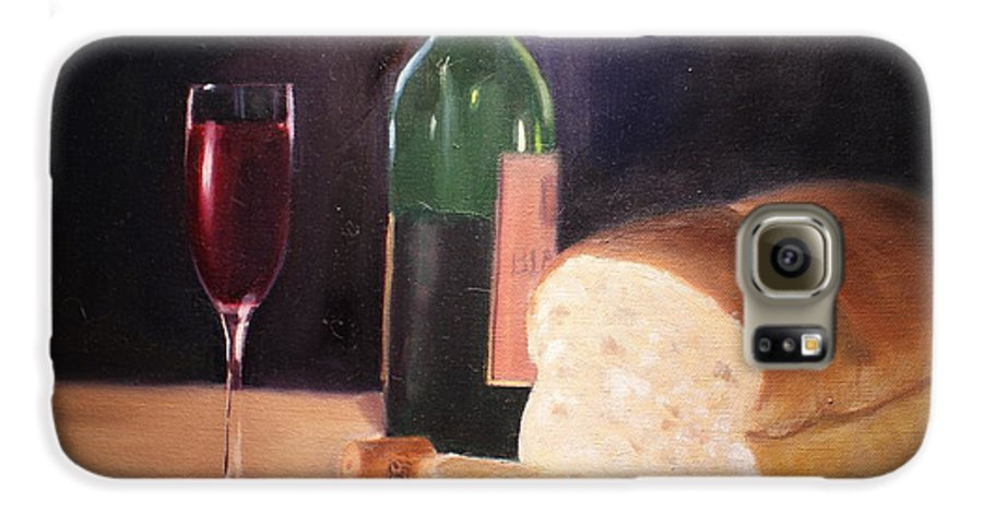 Wine Galaxy S6 Case featuring the painting Untitled by Toni Berry