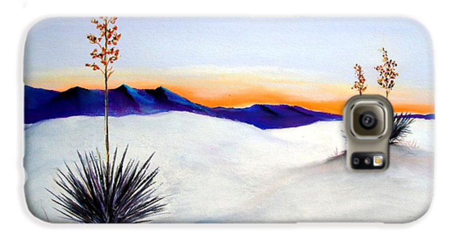 White Sands Galaxy S6 Case featuring the painting White Sands by Melinda Etzold
