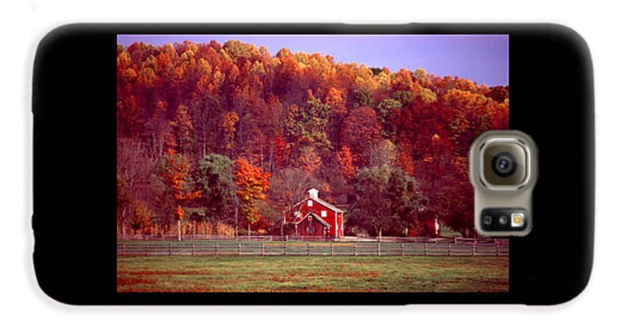 Autumn Galaxy S6 Case featuring the photograph 102701-16 by Mike Davis