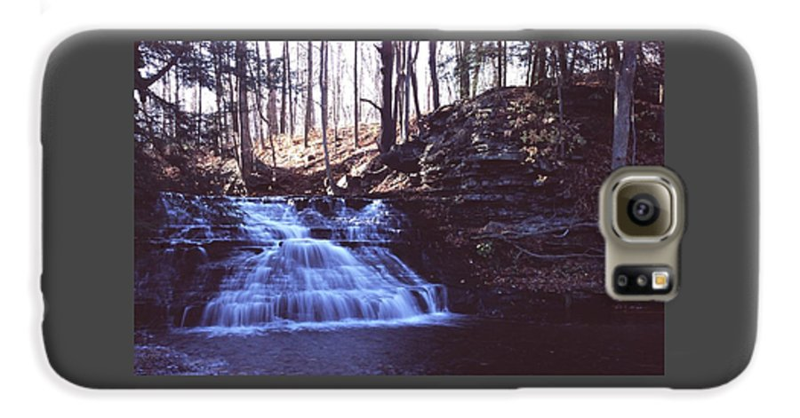 Waterfall Galaxy S6 Case featuring the photograph 111401-4 by Mike Davis