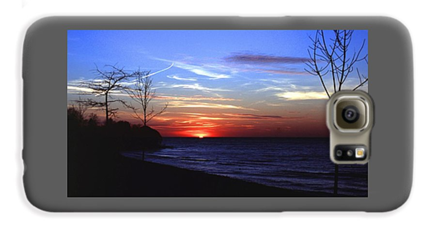 Sunset Galaxy S6 Case featuring the photograph 112601-54 by Mike Davis