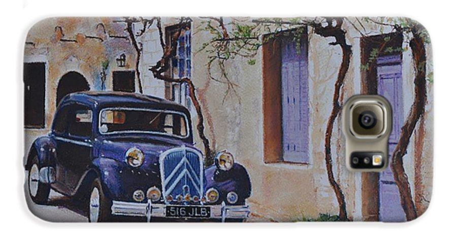 Classic Cars Galaxy S6 Case featuring the painting 1951's Citroen by Iliyan Bozhanov