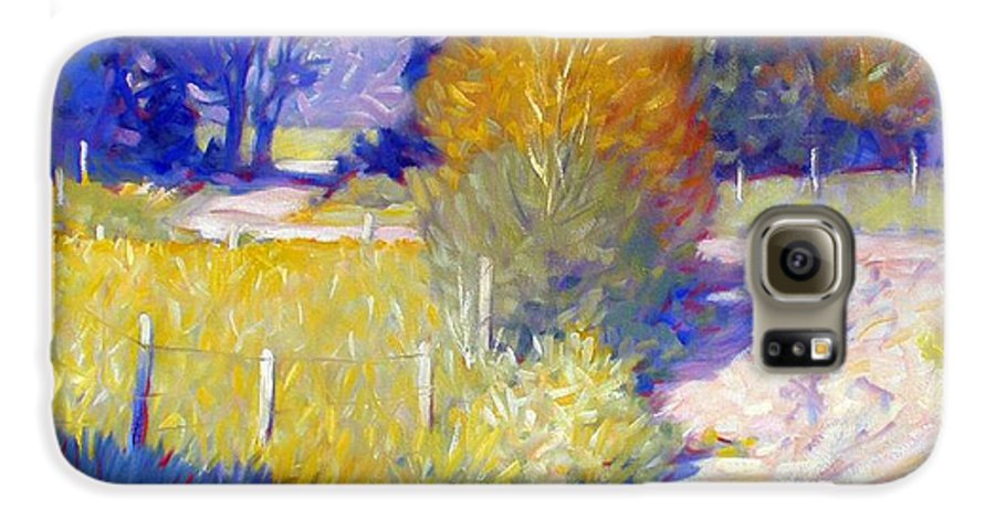 Landscape Galaxy S6 Case featuring the painting Back Road by Kevin Lawrence Leveque